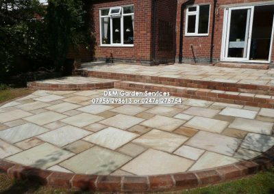 Market Stone Buff Terraced Patio