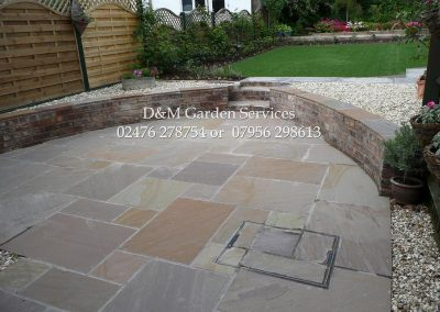 Fieldland patio Reclaimed Brick & Artificial Turf