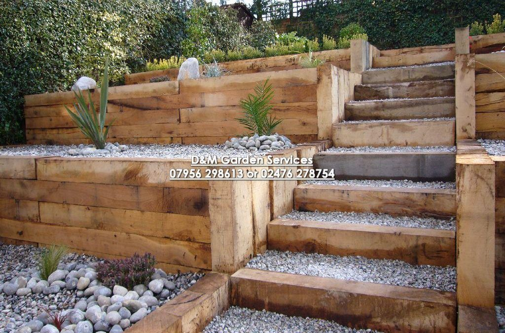 Oak Terracing with Steps