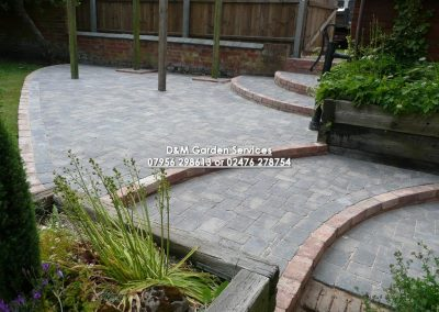 Setts Terrace with reclaim brick steps