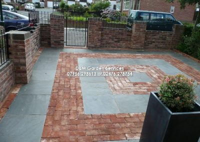 Slate Paving & Reclaimed Brick Walling
