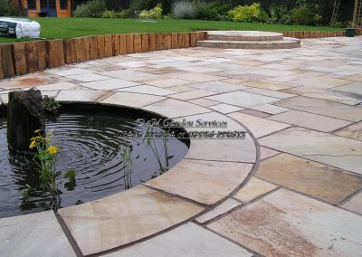 Fossil Buff Oak Retainers Water Feature